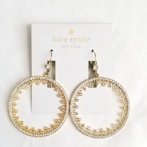 NWT kate spade chantilly charm hoop earrings 🥰💫